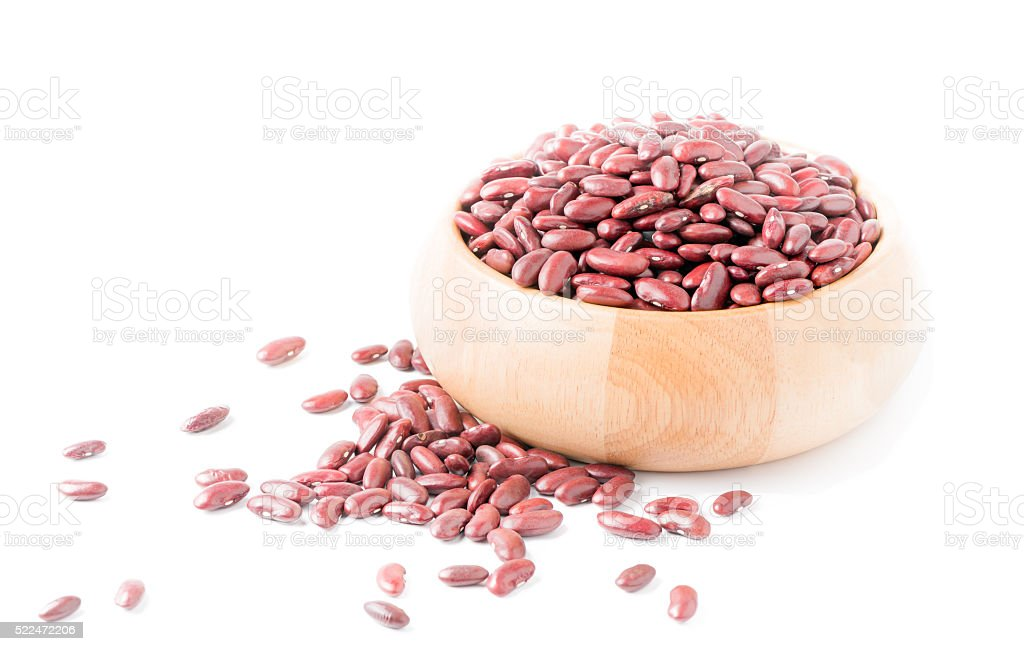 red bean isolated stock photo