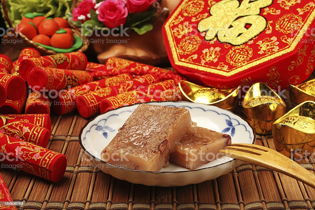 red bean rice cake stock photo