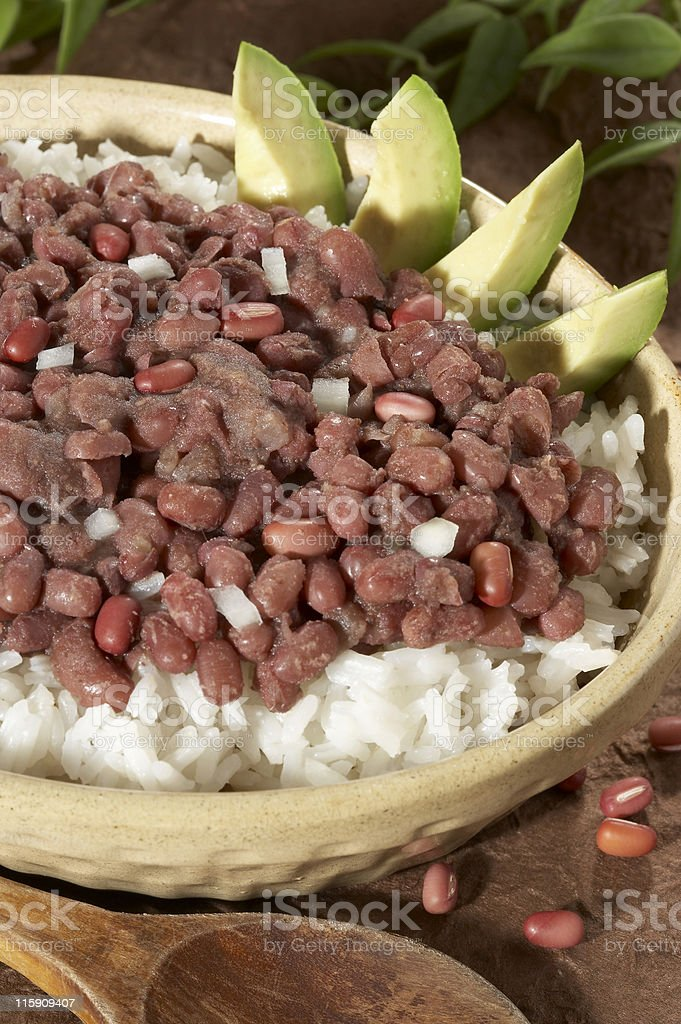 Red beans and rice royalty-free stock photo