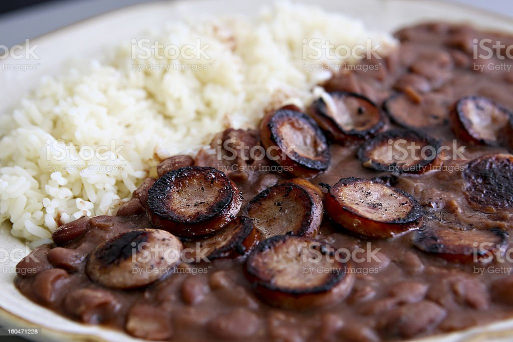 Red beans and rice stock photo