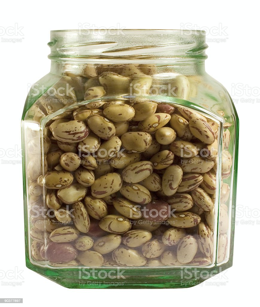 Red beans in a bin royalty-free stock photo