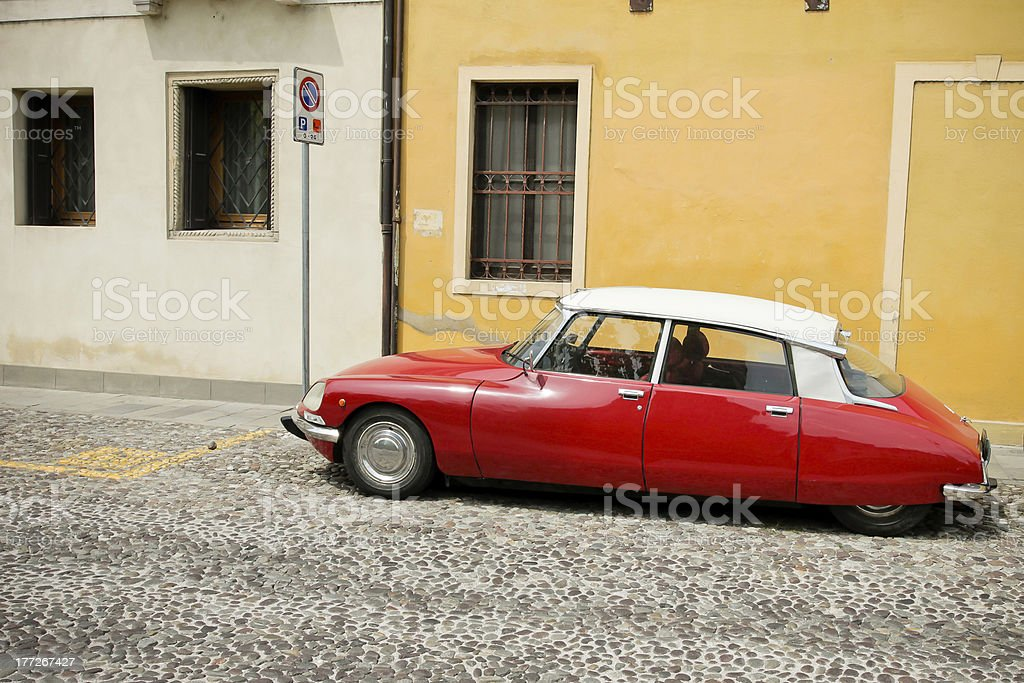 Red beauty - Citroën DS royalty-free stock photo