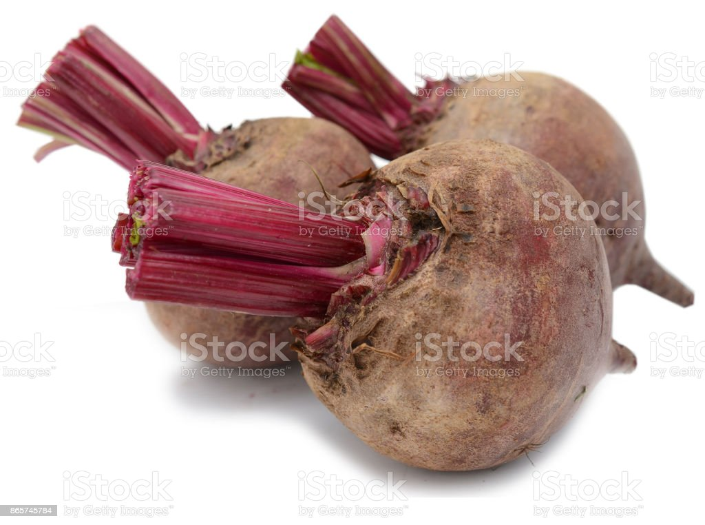 Red beet isolated on a white background stock photo