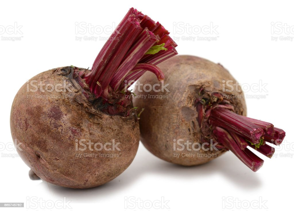 Red beet isolated stock photo