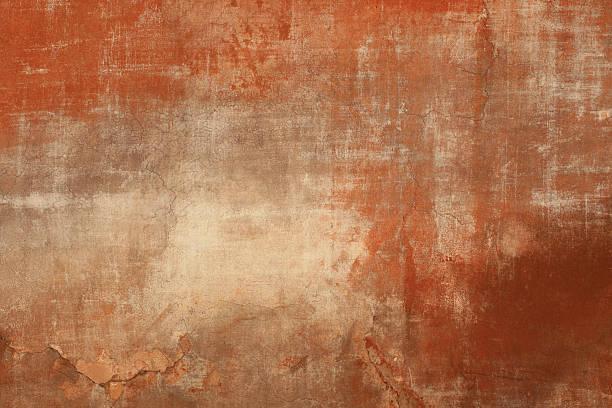 Rot und beige grunge Wand Textur Rom, Rom, Italien – Foto