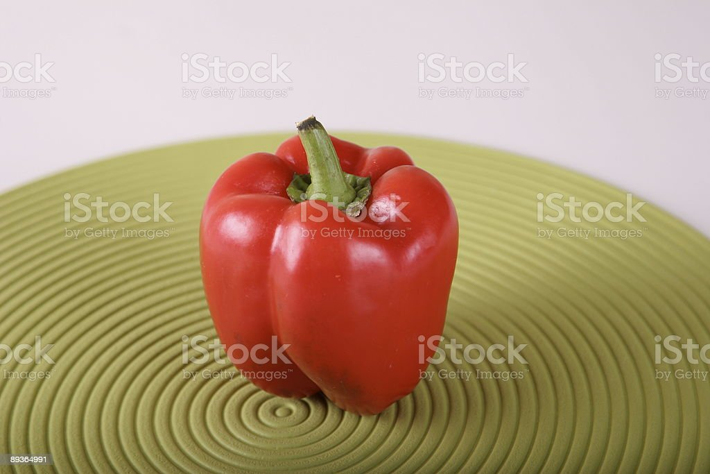 Red Bell Pepper royalty-free stock photo