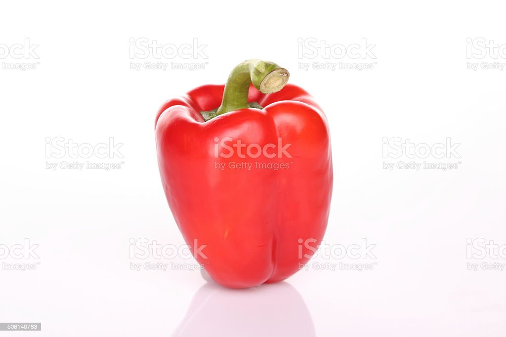 Red bell pepper with shadow stock photo