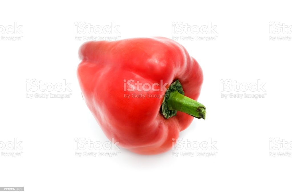 Red bell peppers, Paprika, isolated on a white background stock photo