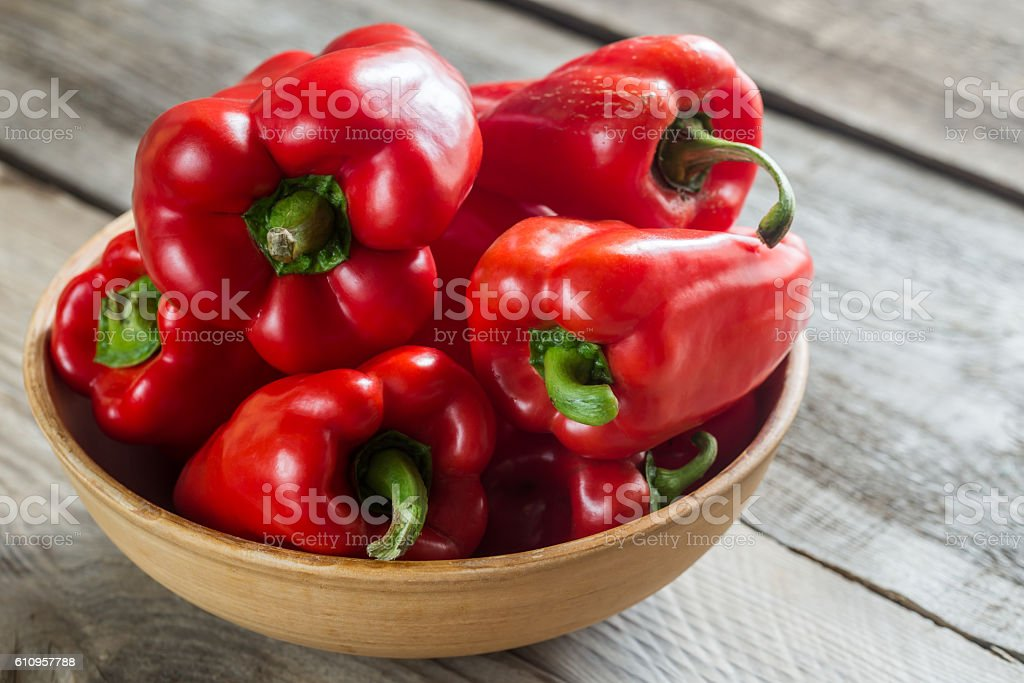 Red bell peppers stock photo