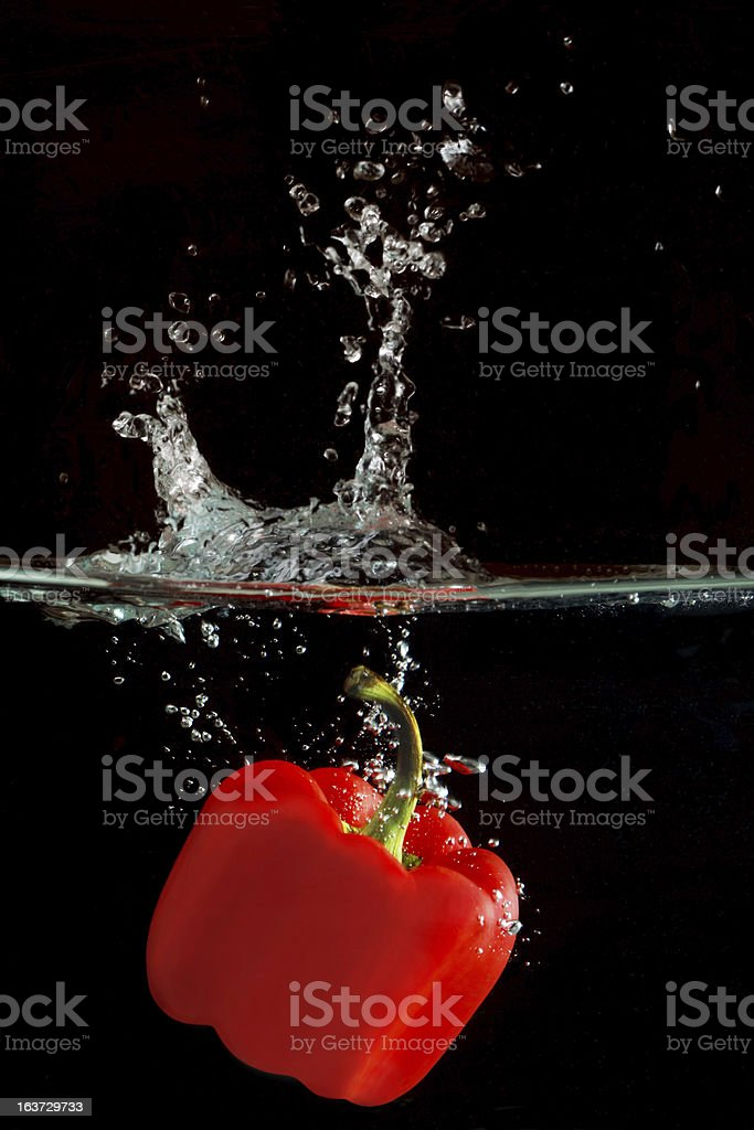 Red Bellpaper Splash royalty-free stock photo