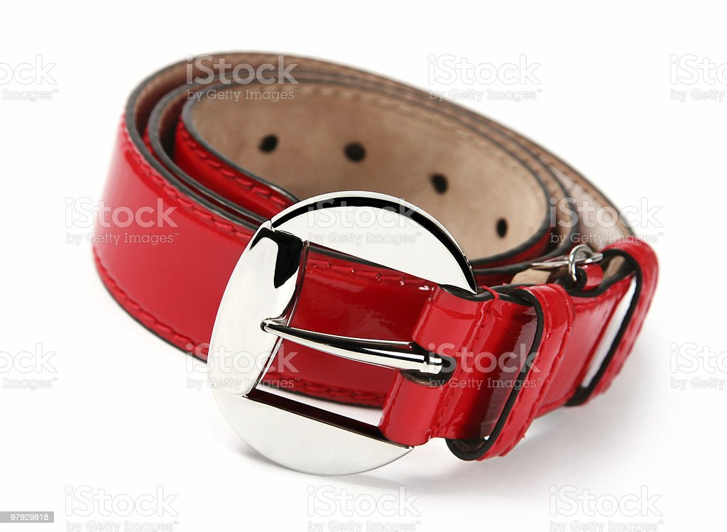 Red belt royalty-free stock photo