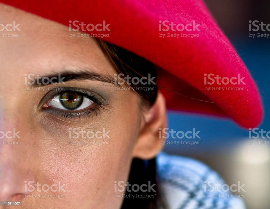 Red Beret royalty-free stock photo