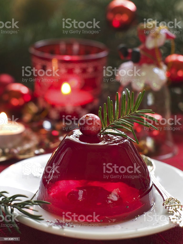 red berries jelly stock photo
