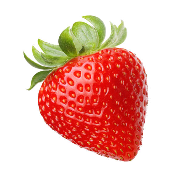 red berry strawberry isolated - strawberry imagens e fotografias de stock