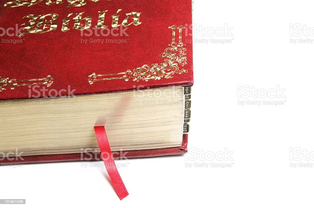 Red Bible royalty-free stock photo