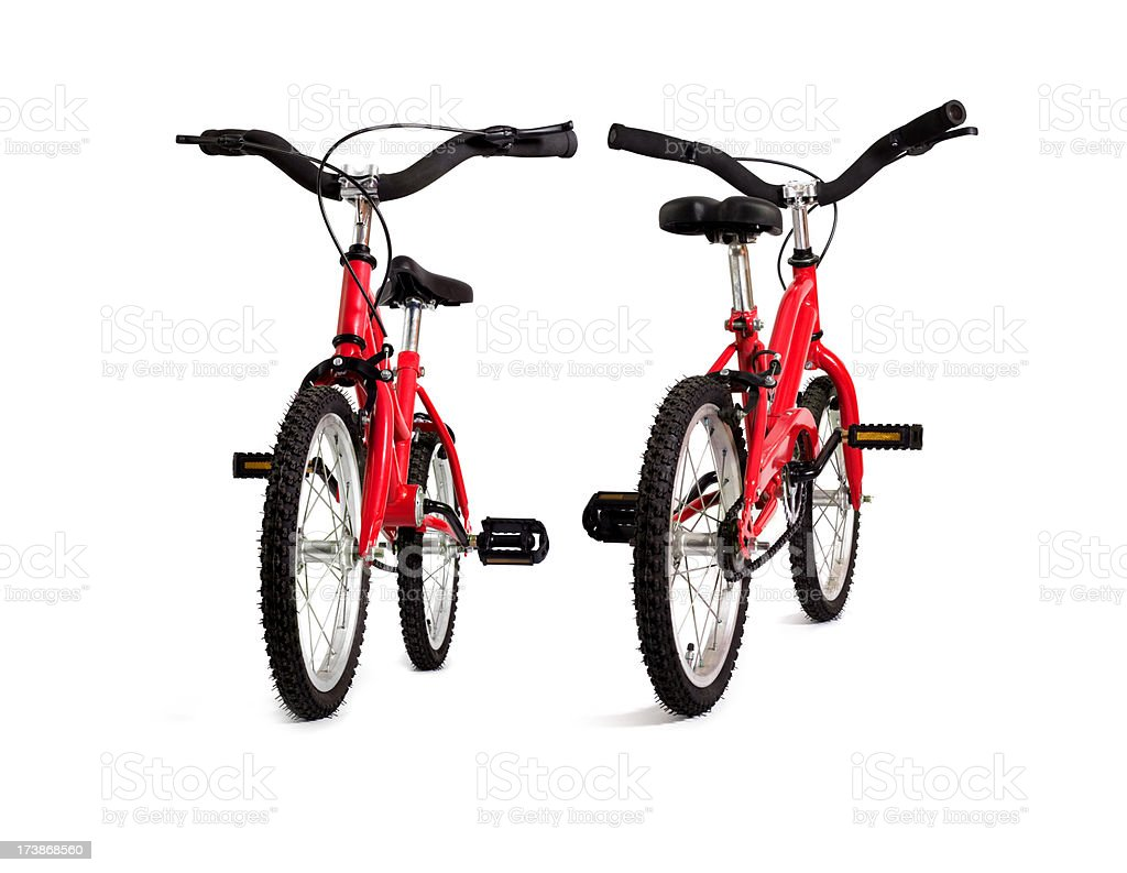 Red Bicycle, Front and Rear view. royalty-free stock photo
