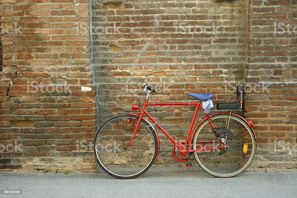 Red bicycle royalty-free stock photo