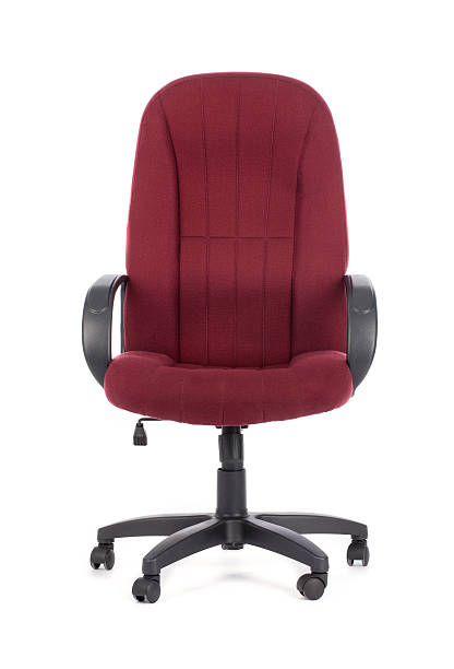 Red big office chair. Isolated stock photo