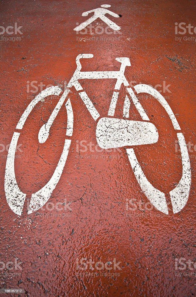 Red Bike Lane royalty-free stock photo