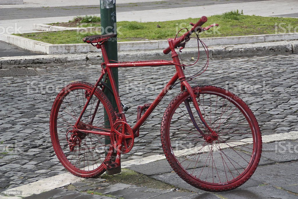 Red Bike royalty-free stock photo
