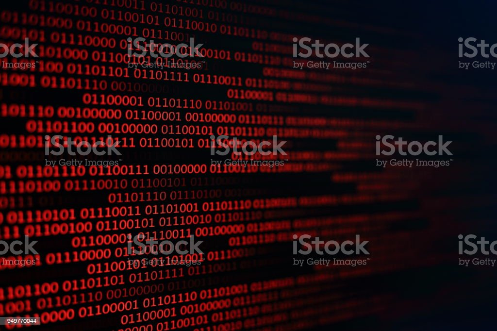 Red Binary Code Background Computer Problems Concept Black Background  Malware Virus Data Transfer Stock Photo - Download Image Now