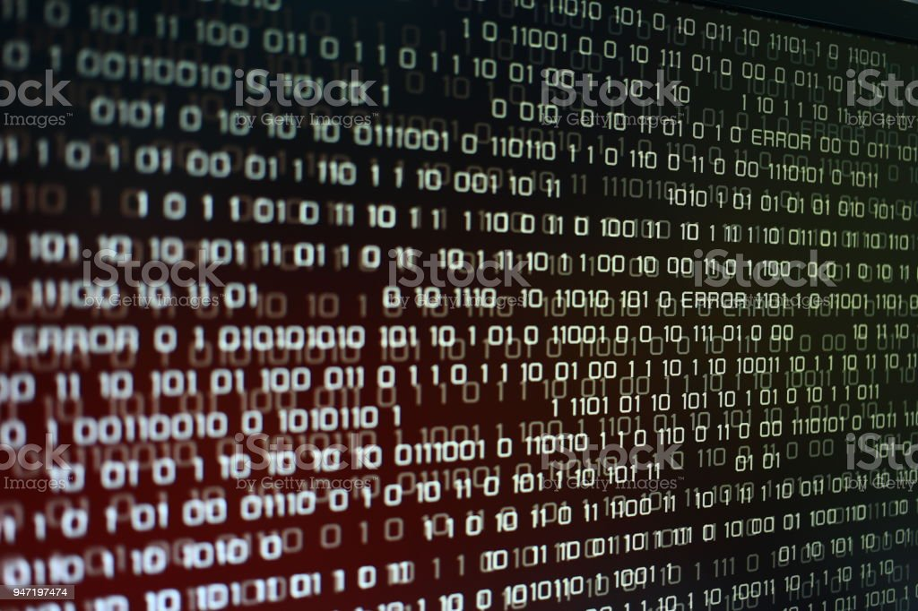 Red Binary Code With Errors Text Computer Problem Concepts
