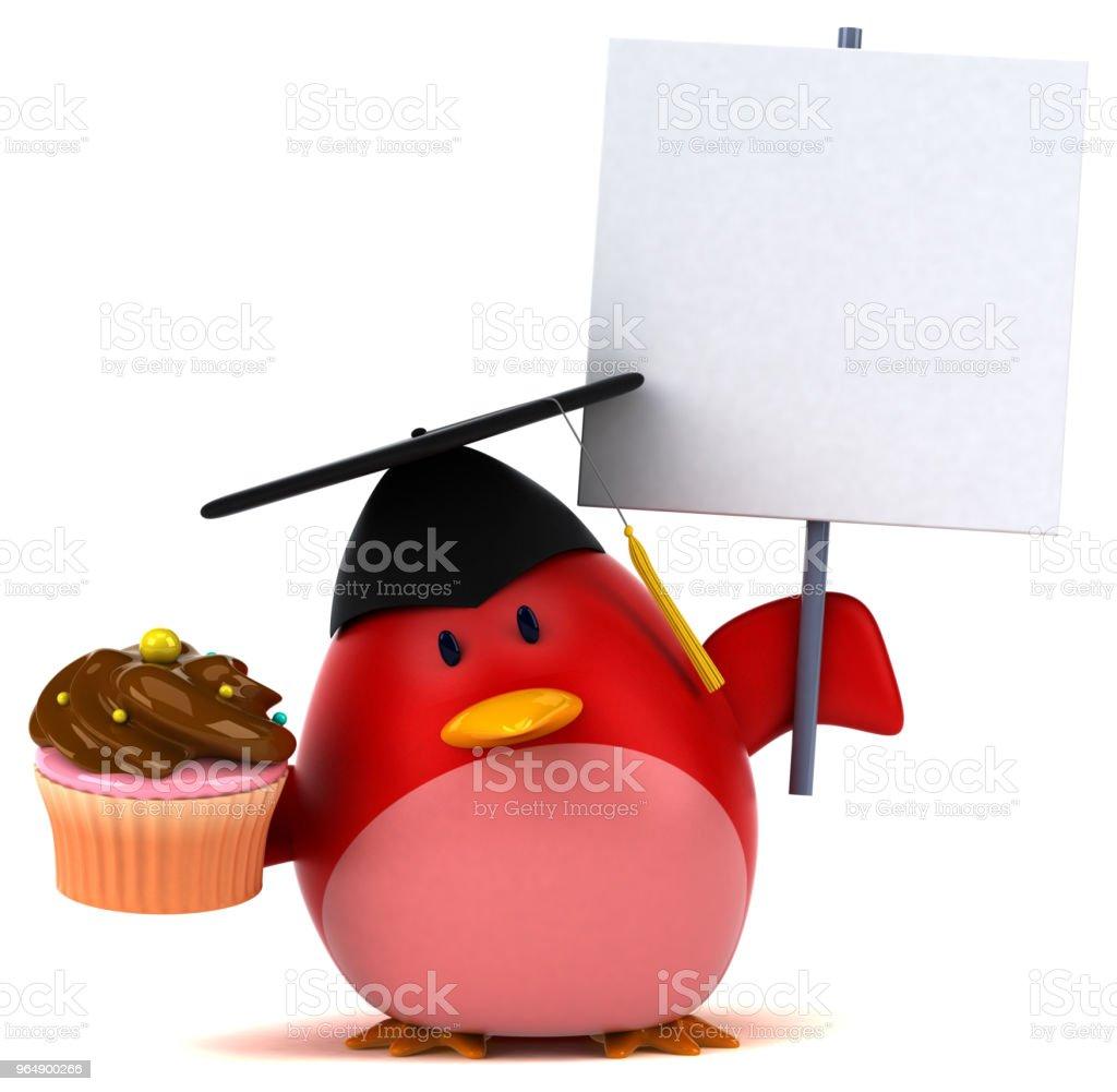 Red bird - 3D Illustration royalty-free stock photo
