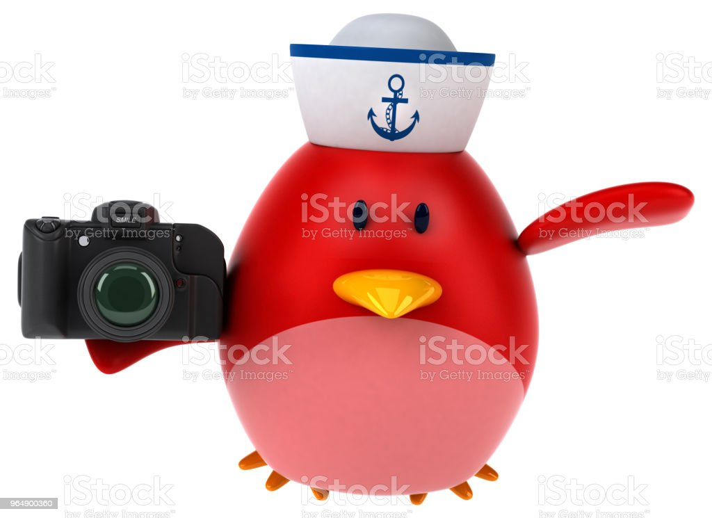 Red bird - 3D Illustration royalty-free stock photo