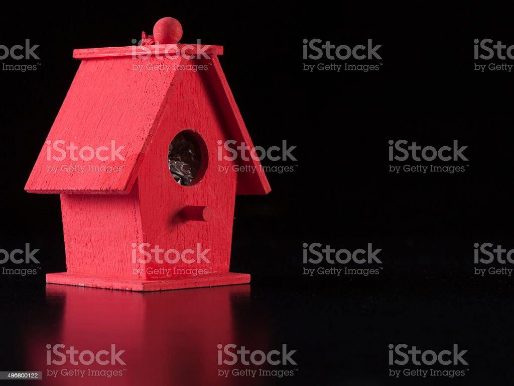Red Bird House stock photo