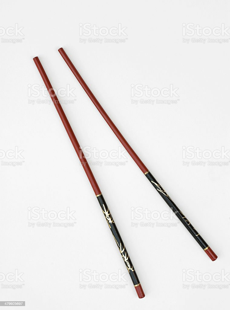 Red & Black Chinese Chopsticks royalty-free stock photo