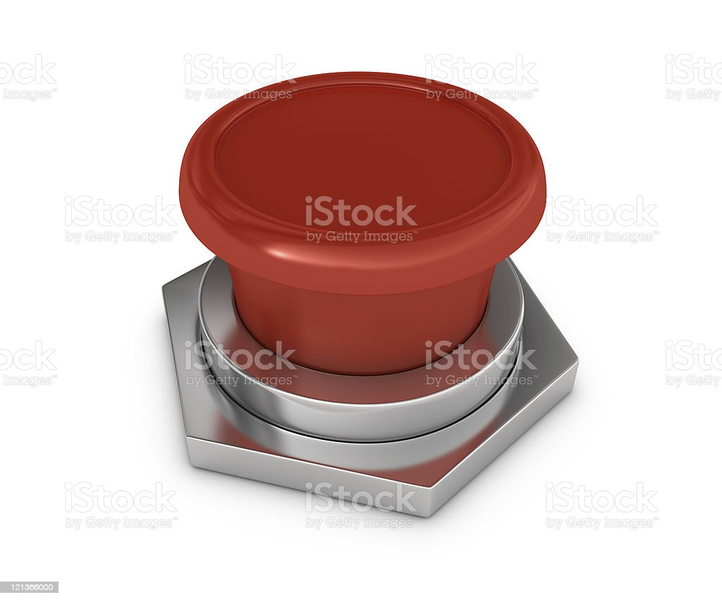 Red Blank Button royalty-free stock photo