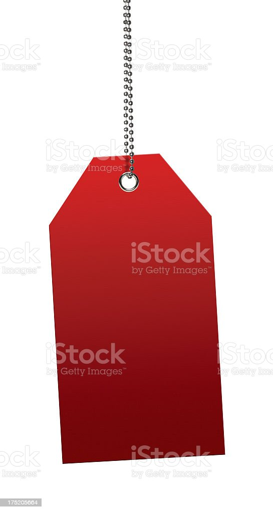Red Blank Tags (Clipping Path) royalty-free stock photo