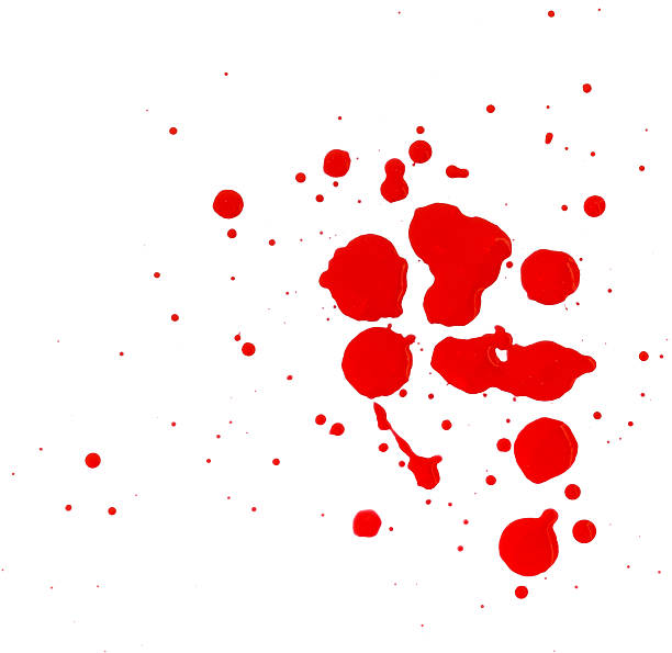 Red blob on a white background. stock photo