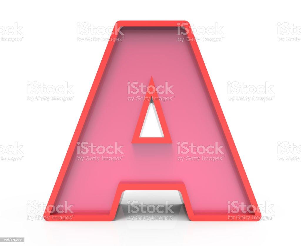 kırmızı blok harf A stok fotoğrafı