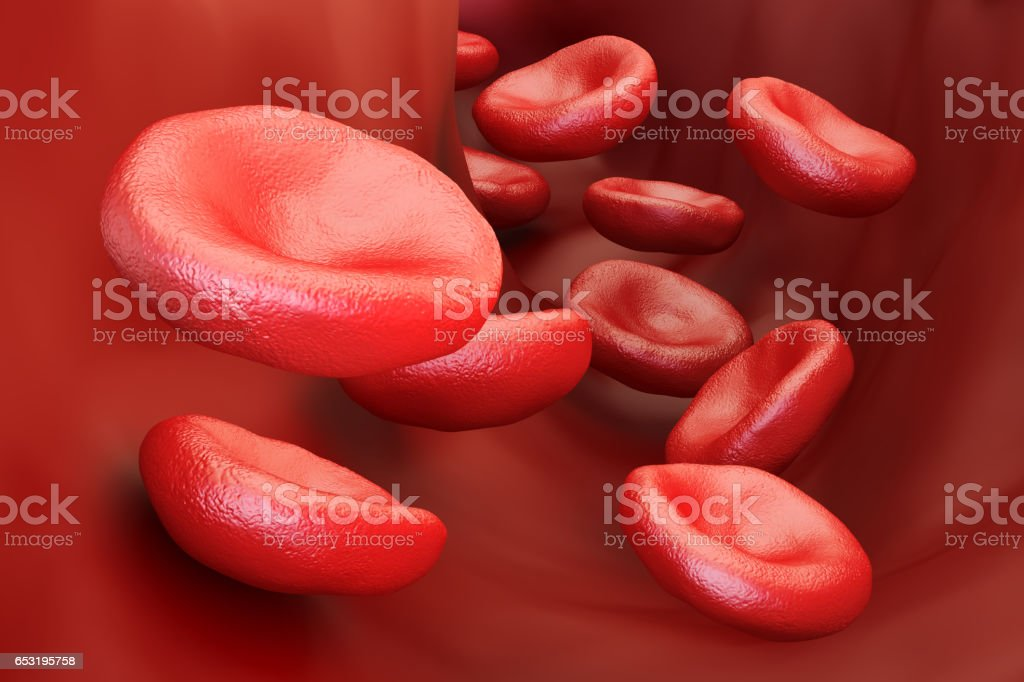 red blood cells background, 3D rendering stock photo