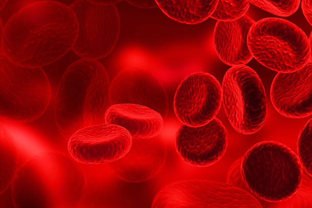 Red Blood Cells, streaming of human blood cells stock photo