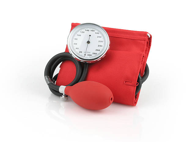 Red Blood Pressure Gauge stock photo