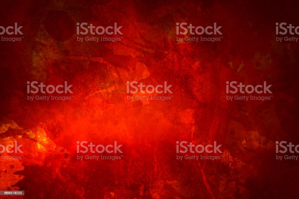red bloody grungy background or texture with splatters stock photo