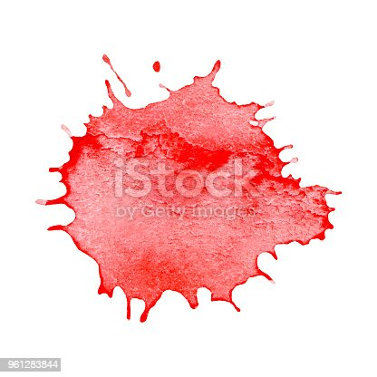 944453740 istock photo Red blot isolate on white background 961283844