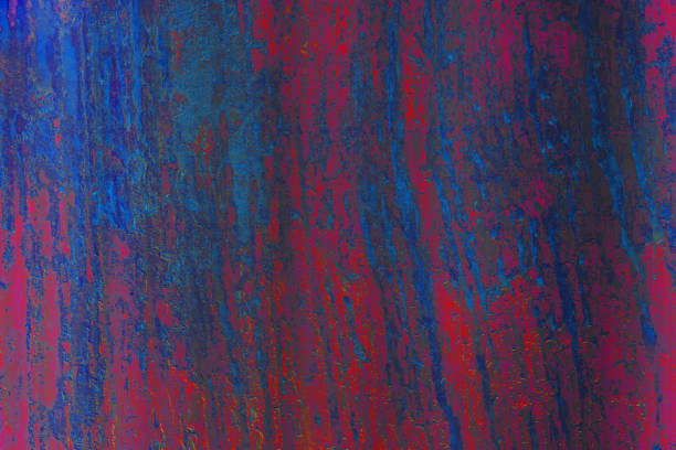 red blue rust and erosion of metal iron steel surface texture stock photo