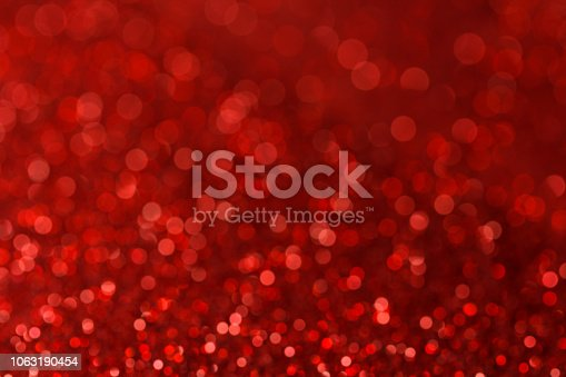 istock Red blur bokeh light. Christmas background 1063190454