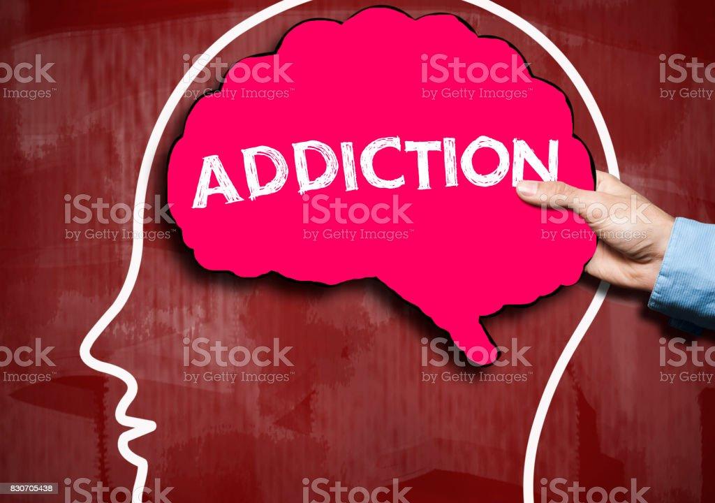 ADDICTION / Red Board Concept (Click for more) stock photo