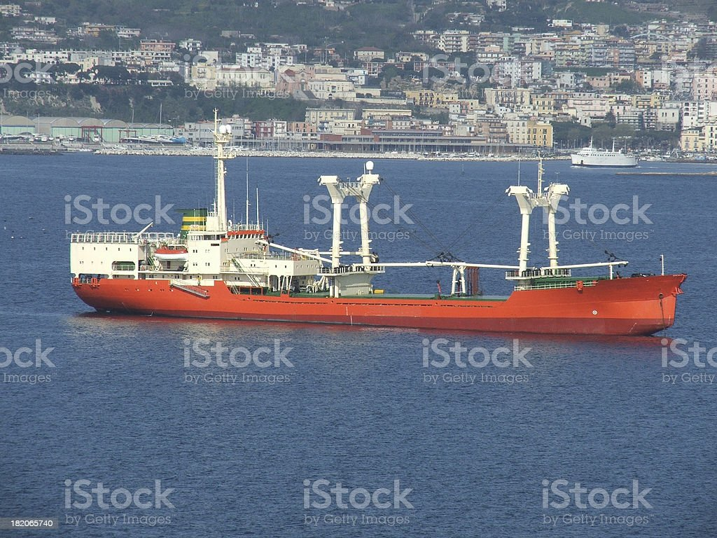 Red boat royalty-free stock photo