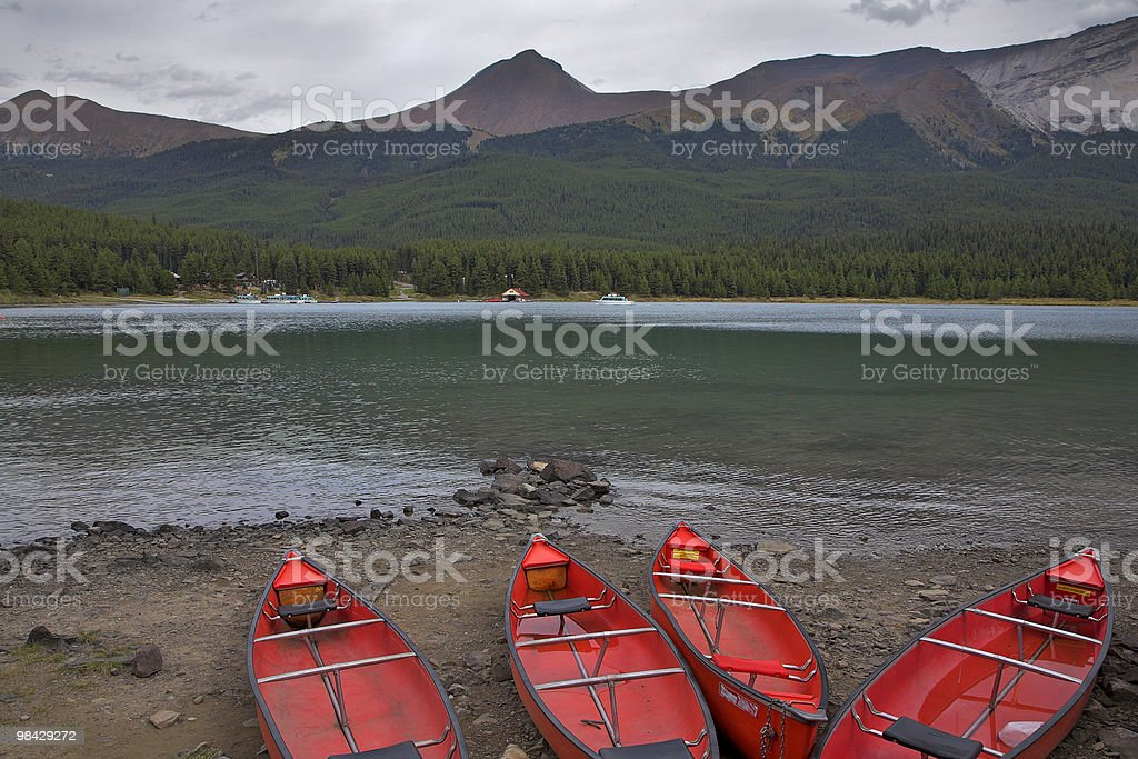 Red boats. royalty-free stock photo