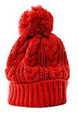 istock Red bobble hat 518567757