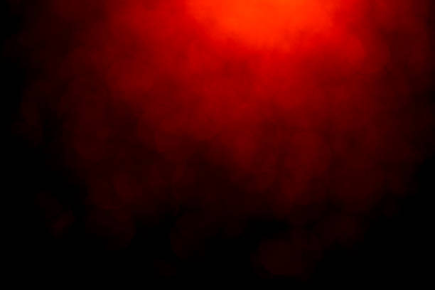 Red bokeh mistical abstract background Red bokeh mistical abstract background. Defocused light. smoke physical structure stock pictures, royalty-free photos & images