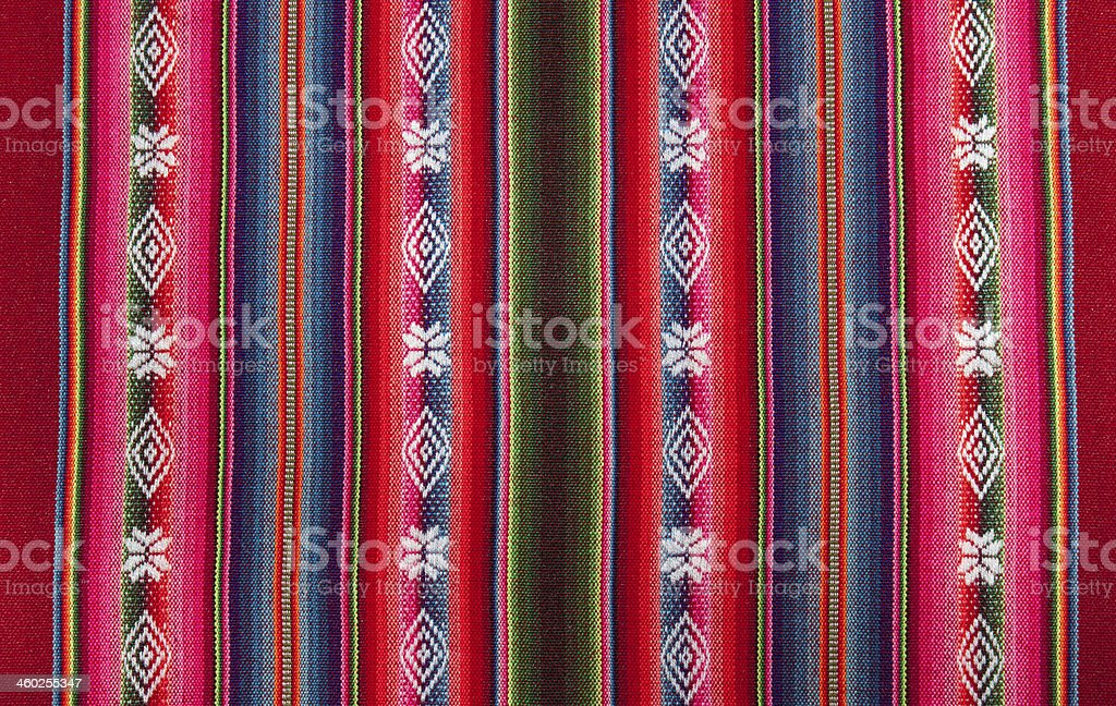 Red bolivian pattern stock photo