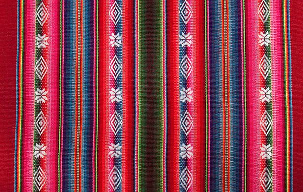 Red bolivian pattern Red national pattern of bolivian indigenous peoples peruvian culture stock pictures, royalty-free photos & images