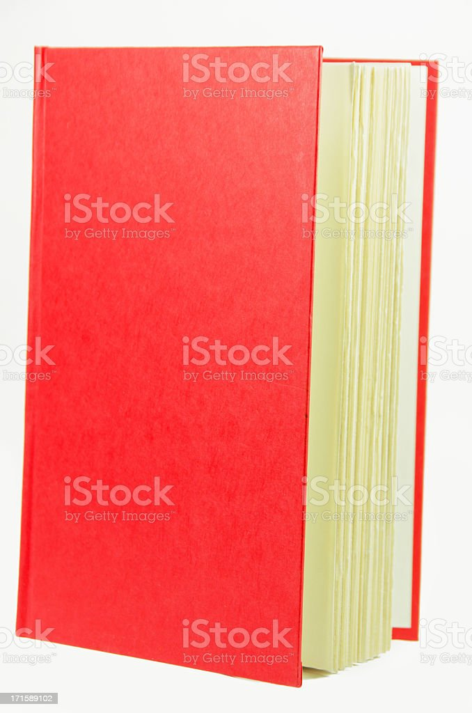 Red Book  with Copy Space royalty-free stock photo
