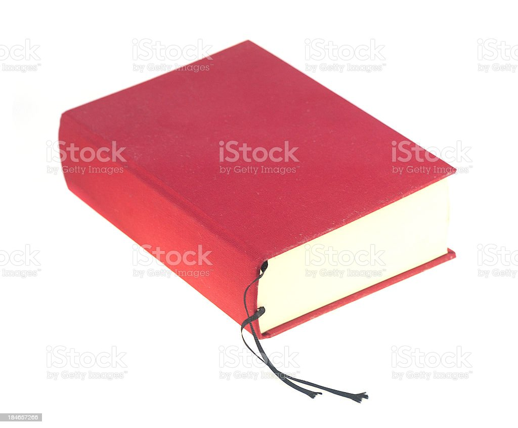 red book with copyspace stock photo